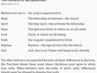 The Oneness of all Believers